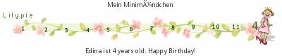 Ticker zum vierten Geburtstag von Lilypie